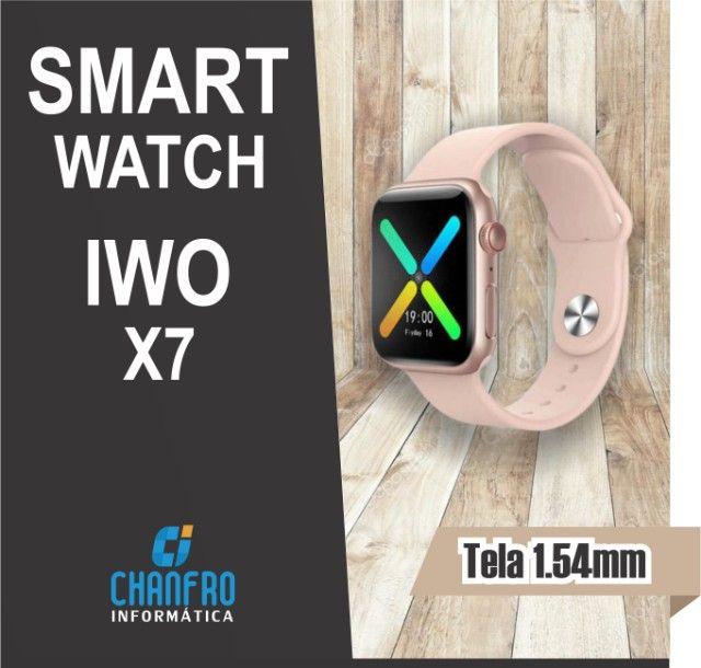 Smartwatch IWO X7 - Faz Ligação - Entrega Grátis