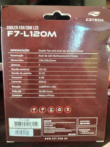 Cooler Fan com Led (C3Tech) - Foto 2