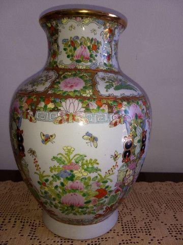 vaso de porcelana chinesa antigo final do século XIX - Foto 2