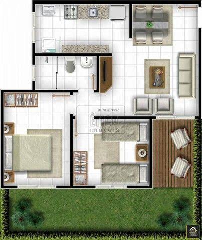 APARTAMENTO com 2 dormitórios à venda com 52m² por R$ 120.000,00 no bairro Uvaranas - PONT - Foto 4