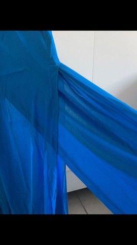 Calça pantacourt azul - Foto 2