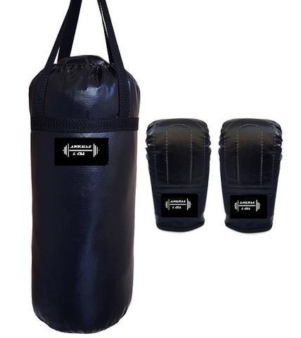 ccbcc74fdb Kit com saco de boxe de 70cm cheio + luva de boxe treino luta saco ...