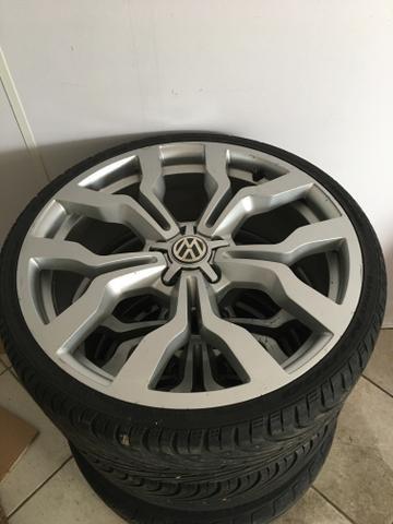 Rodas 20 com pneu - Foto 4