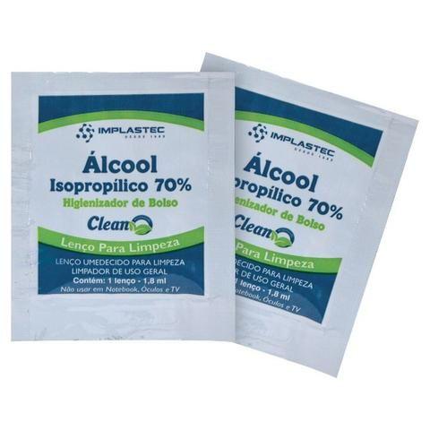 Alcool Isopropílico 70% Sache Lenço Umedecido