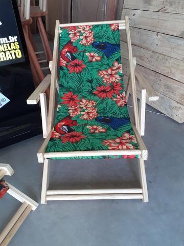 Cadeira Preguiçosa de Madeira - Foto 2