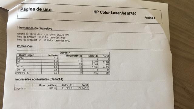 Vendo impressora HP M750 Nova - Foto 6