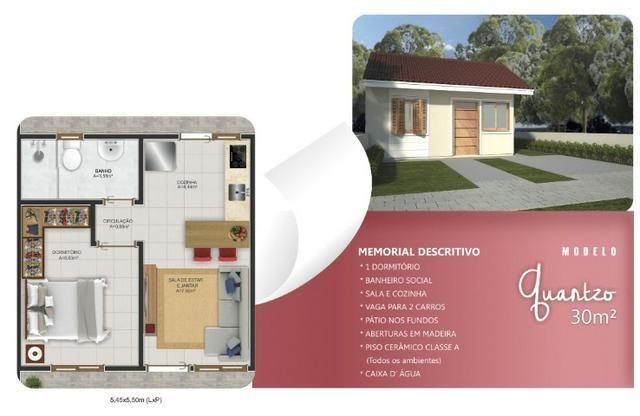 Casa em Nova Santa Rita, em terreno amplo, não é geminada