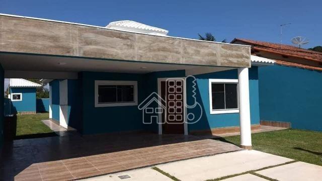 Casa com 3 dormitórios à venda, 130 m² por R$ 550.000,00 - Itaupuaçu - Maricá/RJ