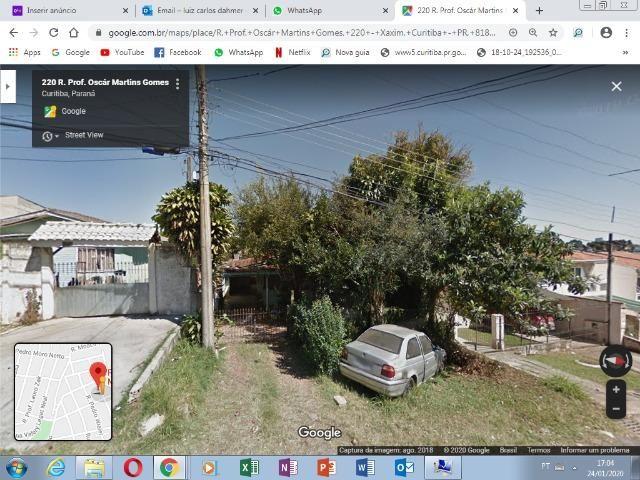 Terreno no Xaxim com 385 m²