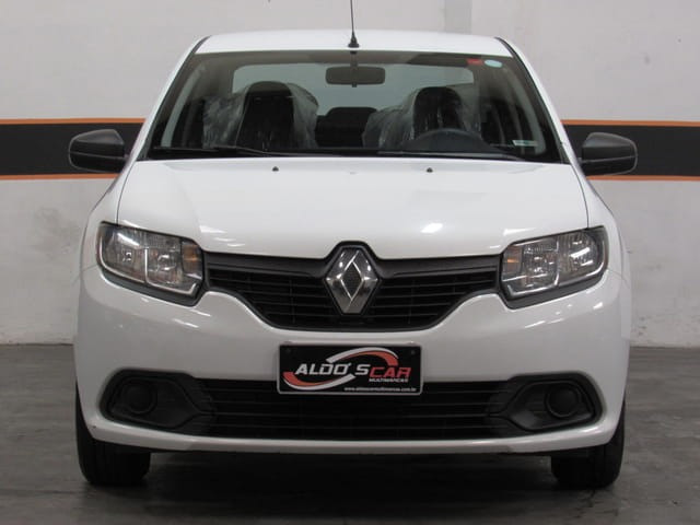 Renault - Logan Autentique 1.0 12v Flex, 2019, Branco, Completo, Financia total 100%, Uber - Foto 2