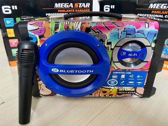 Caixa de Som URBAN SOUND 1500 W de potência! Bluetooth, Microfone e Controle Remoto - Foto 5