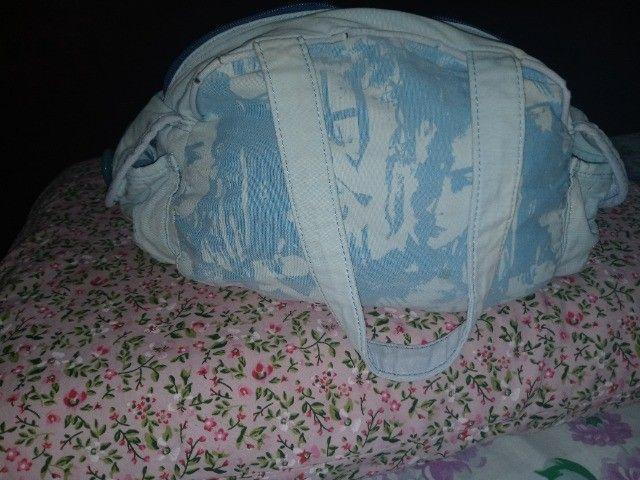 Bolsa em Tecido Azul Chenson 1818 - Foto 3