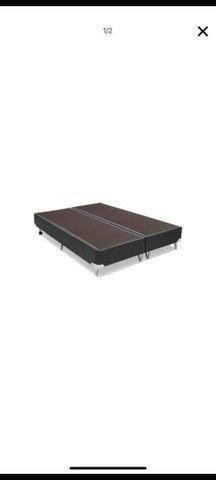 Base cama box courino cinza queen 158x198x23