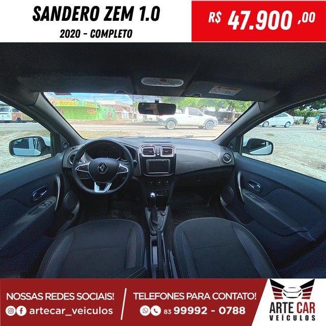 Renalt sandero zem 1.0 completo 2020!! - Foto 2