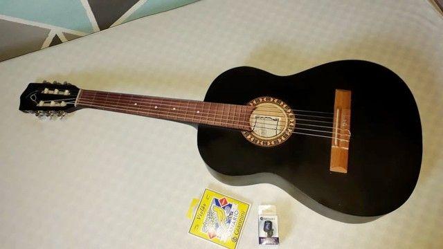 Violão acústico + afinador + kit de cordas - Foto 4