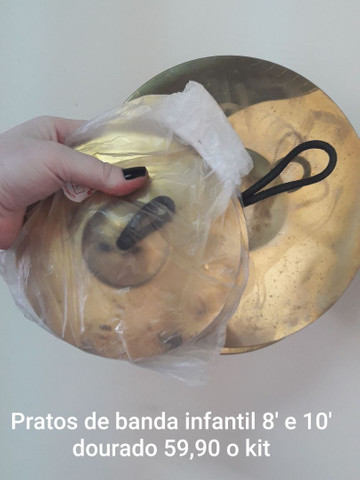 Prato de Banda Infantil  dourado 8' e 10'