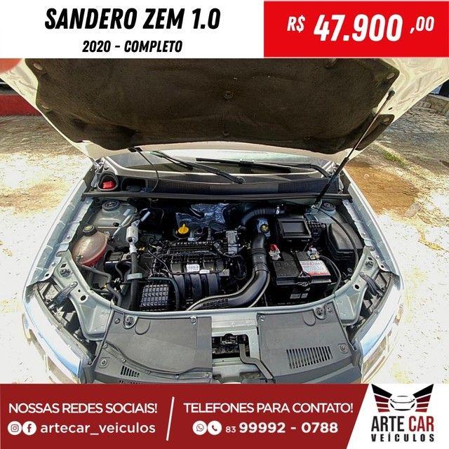 Renalt sandero zem 1.0 completo 2020!! - Foto 4