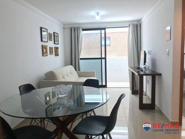 Apartamento com 1 dormitório para alugar, 39 m² por R$ 1.900,00/mês - Cabo Branco - João P - Foto 5