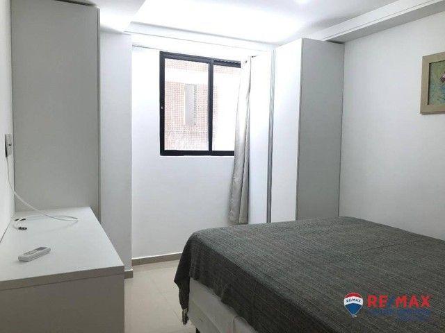 Apartamento com 1 dormitório para alugar, 39 m² por R$ 1.900,00/mês - Cabo Branco - João P - Foto 9