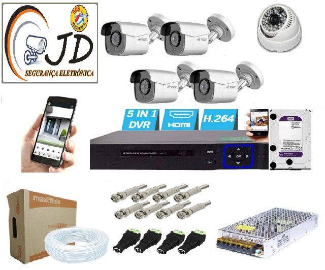 Câmeras de segurança +Instalação gravaçao+monitoramento+ app no celular-Ligue o msg no zap
