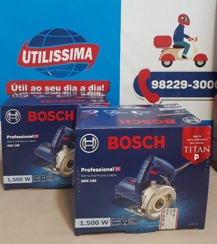Serra Mármore Titan 1.500w Bosch Gdc 150 ?Entrega grátis  - Foto 2
