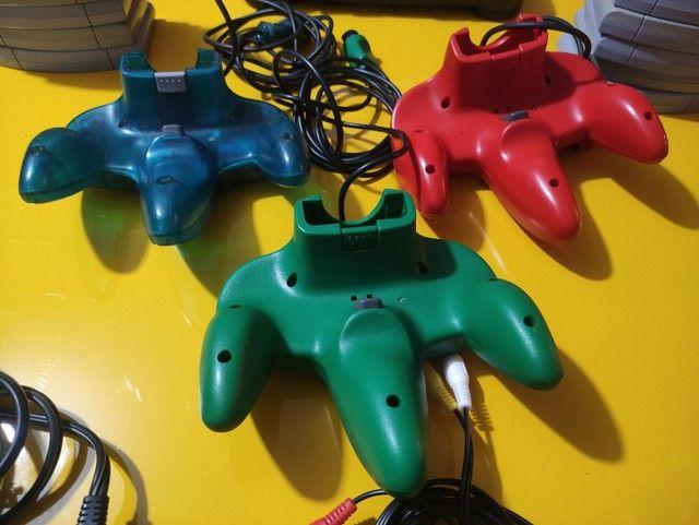 Controles originais nintendo 64 - Foto 2