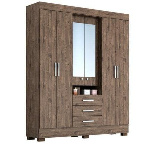 Guarda Roupa 6 portas com espelho Débora - Foto 2