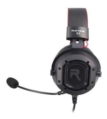 Fone De Ouvido Headset Gamer Jogos Run Mus K3 Rgb (6x no cartão) - Foto 3