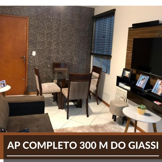 AP 100% mobiliado - bairro areias 300m do Giassi