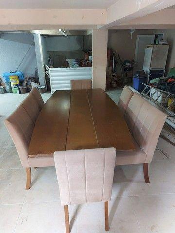Mesa 8 lugares com cadeiras  - Foto 2