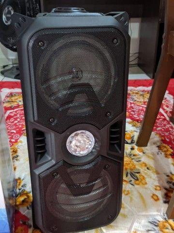 Caixa de som Bluetooth alta potência, com microfone, entrada USB, rádio FM - Foto 3