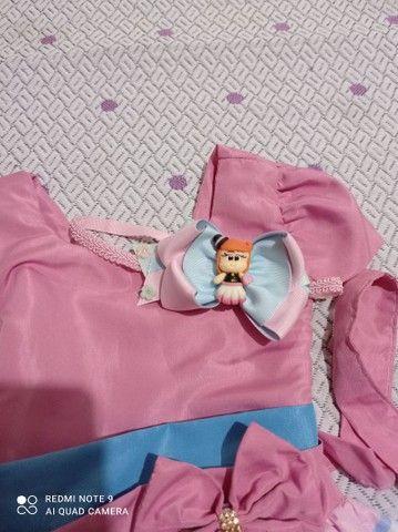 Kit vestido bita + tiara personalizada - Foto 3