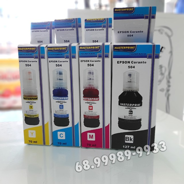 Kit Tinta impressora Epson 04 Cores L6161 L4150 L4160 L6191 MP504 544