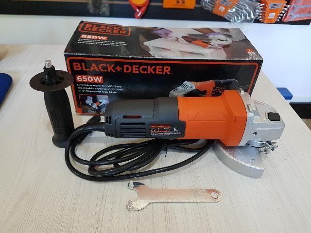 "Esmerilhadeira / Lixadeira 4 1/2"" Black & Decker 650w - 220v G650"