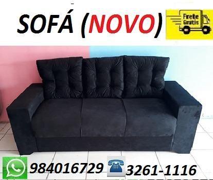 Atenção!!Receba No Mesmo Dia Lindo Sofa 3 Lugares Com Almofadas (Novo)
