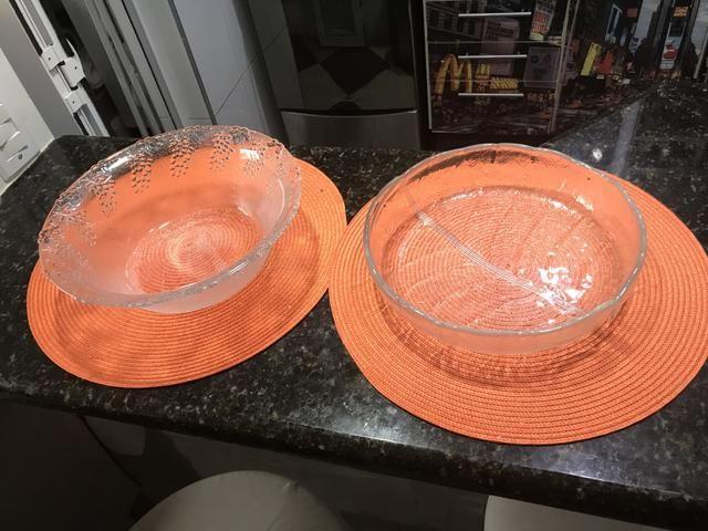 Duo de saladeiras em vidro