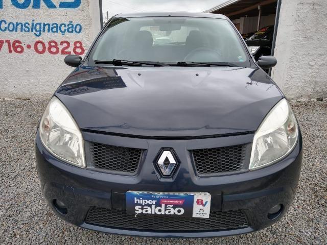 Renault sandero 2009 com parcelas de 599 mensais financio e aceito trocas - Foto 7