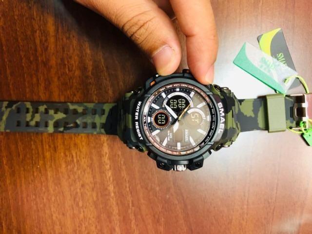 6878b00ec96 Relógio Militar Smael Digital Militar camuflado - Bijouterias ...