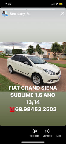 FIAT GRAND SIENA SUBLIME 1.6 ANO 13/14 - Foto 8