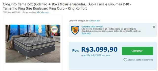 Conjunto Cama box (box + colchão) , molas ensacadas, Dupla face e espuma D40. Quase novo!! - Foto 3