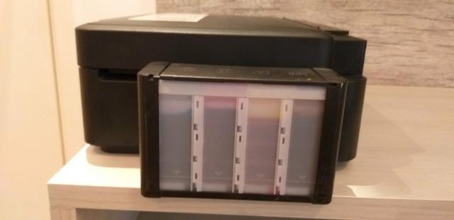 Impressora Multifuncional Epson L210 entupida - Foto 2
