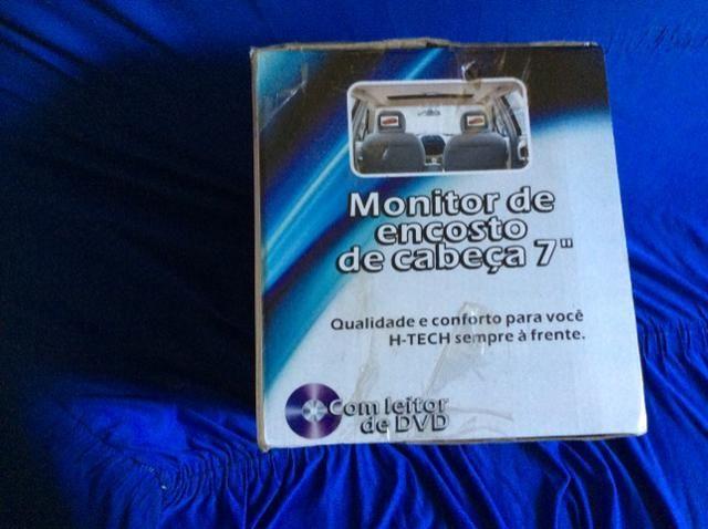 Encosto de cabeça p/ automóveis c/ DVD 7? - Foto 4