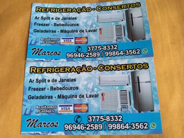 Consertos : Geladeiras ,maquina de lavar, ar .