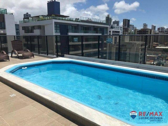 Apartamento com 1 dormitório para alugar, 39 m² por R$ 1.900,00/mês - Cabo Branco - João P - Foto 17