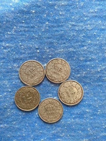 Moedas antigas franco suíço
