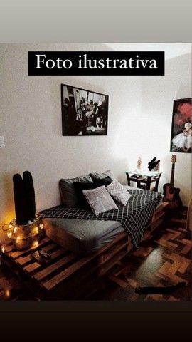 4 pallets + colchão de solteiro (Herval Cannes D33) em perfeito estado - Foto 5