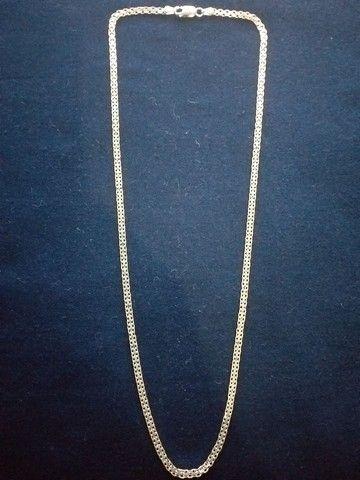 Cordão de prata italiana - Foto 3