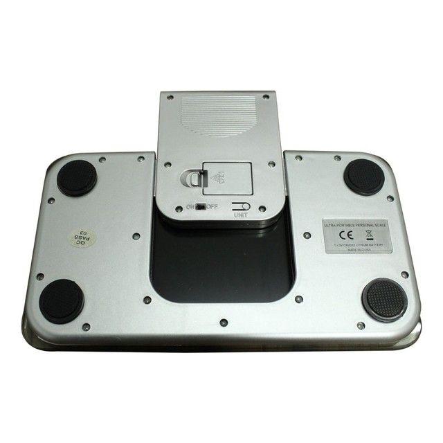 Balança Corporal Digital Vidro Temperado Preta Até 180kg,NOVA/ACEITO TROCAS - Foto 4