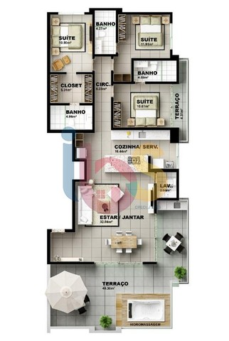 Apartamento à venda, 3 quartos, 3 suítes, 2 vagas, São Francisco - Ilhéus/BA - Foto 6