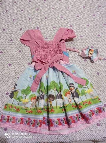 Kit vestido bita + tiara personalizada - Foto 2